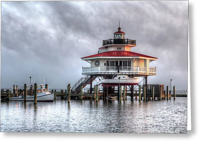 Choptank River Lighthouse Greeting Card by Greg Hager