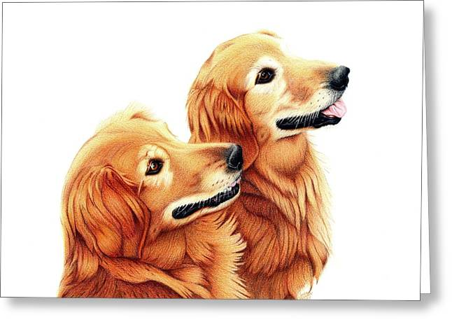 Chris And Riggs Greeting Card