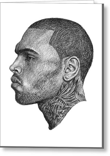 Chris Brown Greeting Card by Antony Bagley