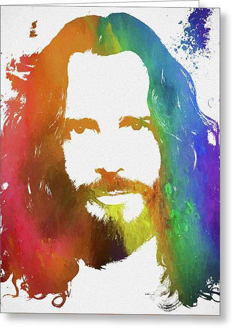 Chris Cornell Color Tribute Greeting Card