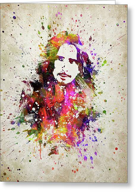 Chris Cornell In Color Greeting Card