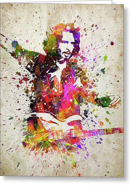 Chris Cornell Portrait Greeting Card