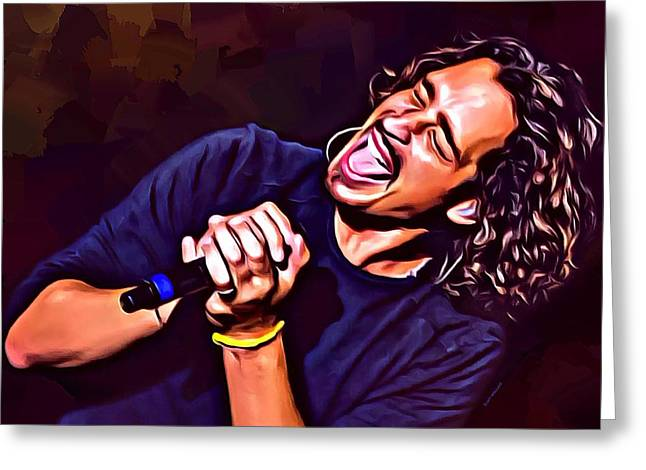 Chris Cornell Greeting Card by Scott Wallace