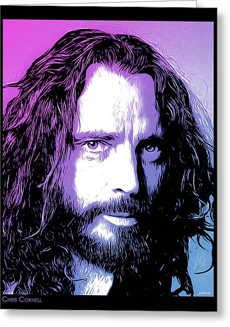 Chris Cornell Tribute Greeting Card by Greg Joens