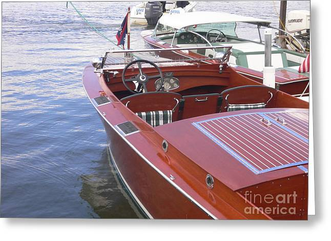 Chris Craft Greeting Card by Neil Zimmerman