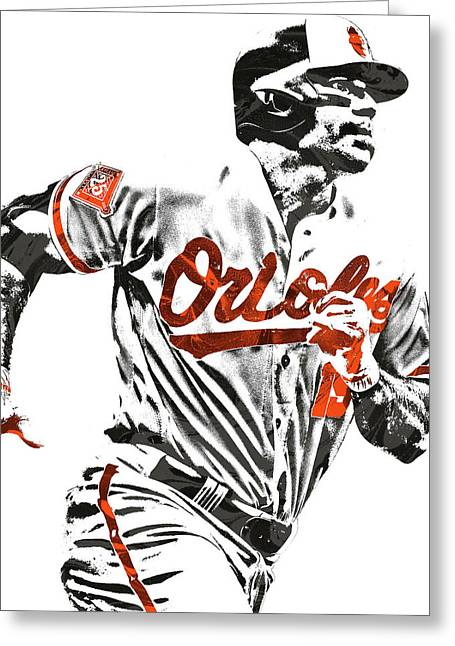 Chris Davis Baltimore Orioles Pixel Art Greeting Card
