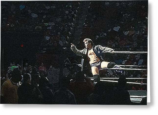 Chris Jericho Y2j Greeting Card by Paul  Wilford