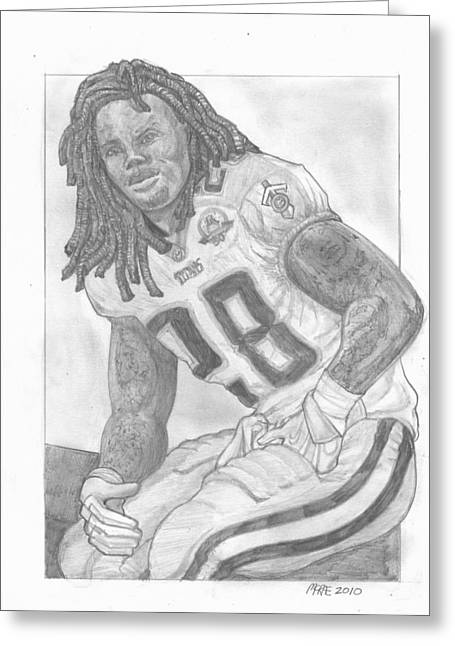 Chris Johnson Greeting Card by Paul McRae