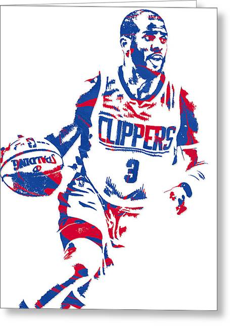 Chris Paul Los Angeles Lakers Pixel Art 6 Greeting Card