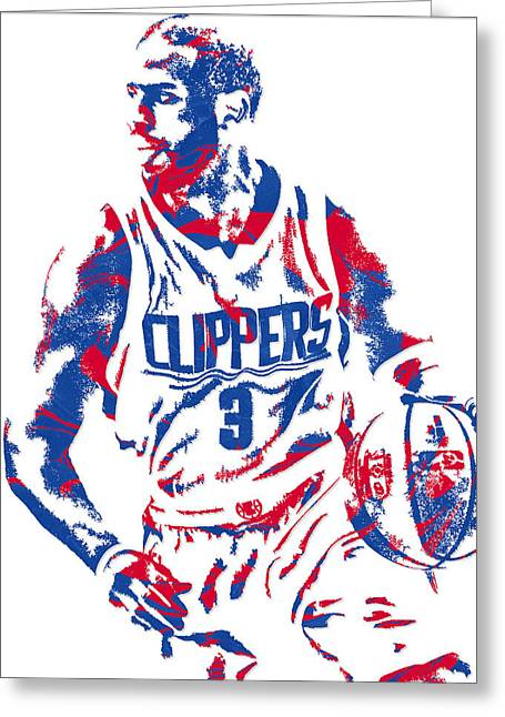 Chris Paul Losangeles Clippers Pixel Art 5 Greeting Card by Joe Hamilton