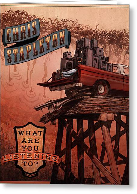 Chris Stapleton Poster Greeting Card by Ethan Harris