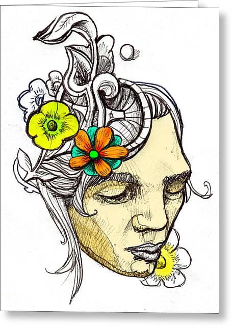 Chrissy Greeting Card by John Baker