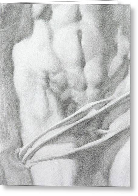 Greeting Card featuring the drawing Christ 1c by Valeriy Mavlo