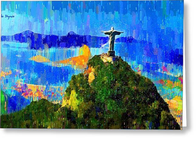 Christ Above All In Rio 1 - Da Greeting Card
