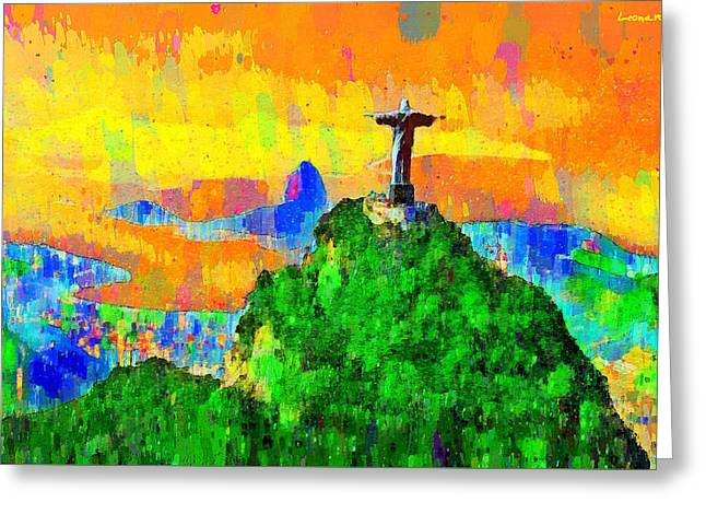 Christ Above All In Rio 3 - Pa Greeting Card