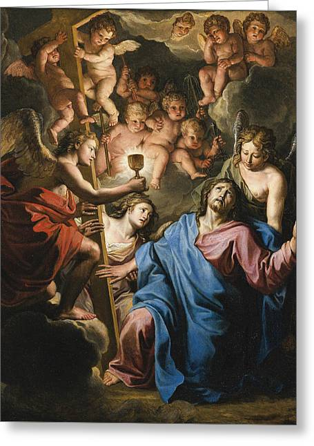 Christ At Prayer On The Mount Of Olives Greeting Card