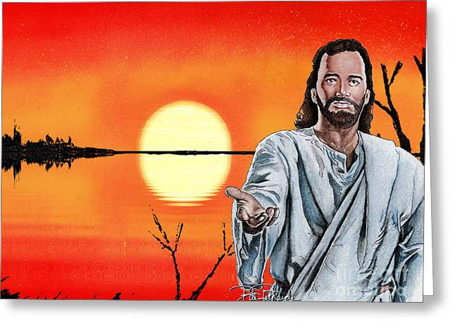 Christ At Sunrise Greeting Card by Bill Richards