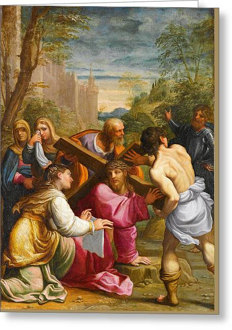 Christ Bearing The Cross Greeting Card