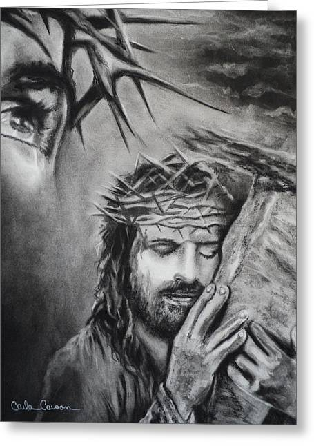 Christ Greeting Card by Carla Carson