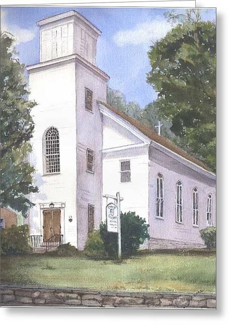 Christ Church Greeting Card by Katherine  Berlin