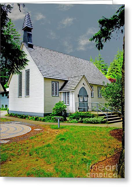 Greeting Card featuring the photograph Christ Church by Rod Wiens