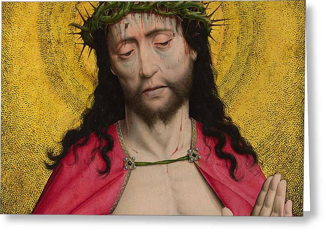 Christ Crowned With Thorns Greeting Card by Dirck Bouts