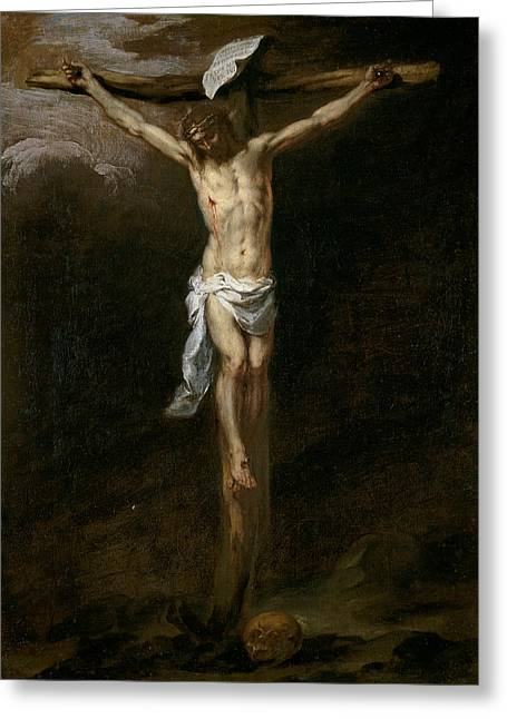 Christ Crucified Greeting Card by Bartolome Esteban Murillo