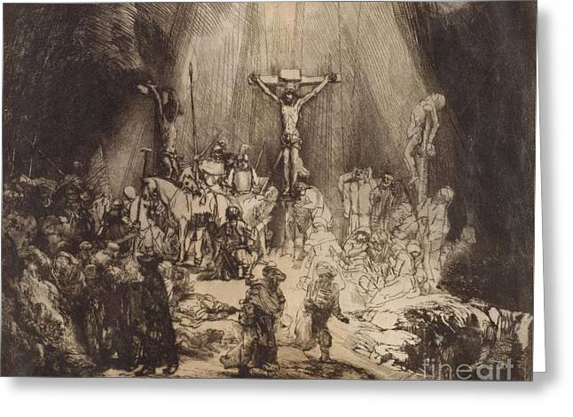 Christ Crucified Between The Two Thieves  The Three Crosses, 1653 Greeting Card
