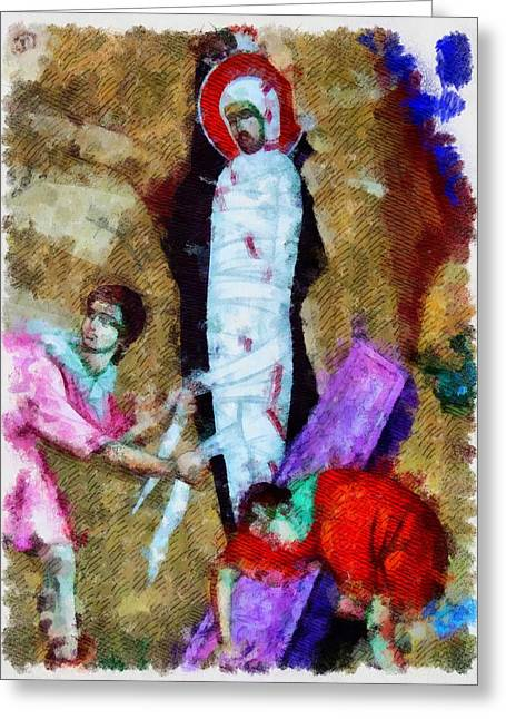 Christ Entombed Greeting Card