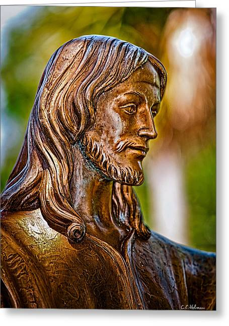Christ In Bronze Greeting Card by Christopher Holmes