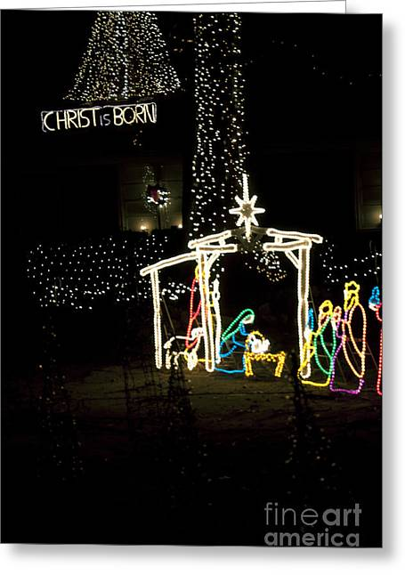 Christ Is Born Greeting Card by Affini Woodley