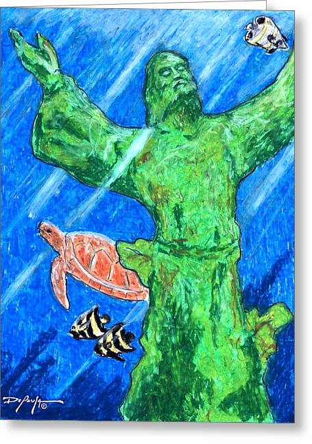 Christ Of The Deep Greeting Card by William Depaula