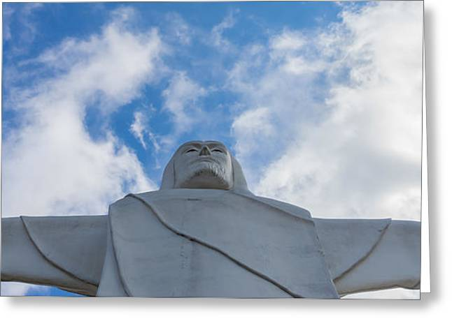 Christ Of The Ozarks Pano Greeting Card