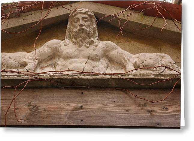 Christ On Shrine In Venice Greeting Card by Michael Henderson