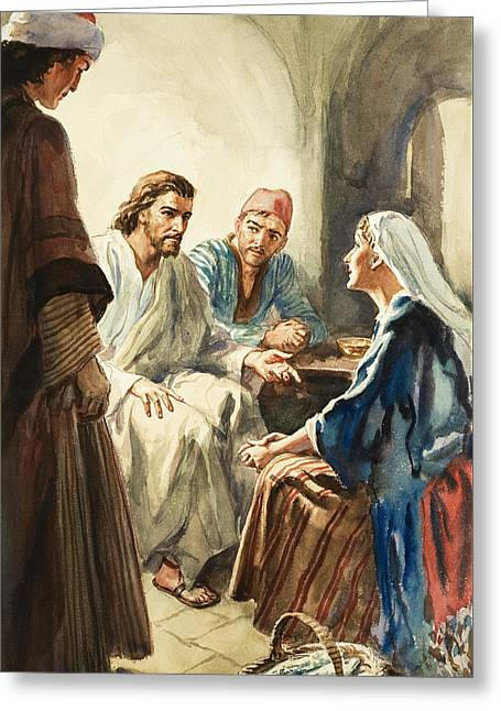 Christ Talking Greeting Card by Henry Coller