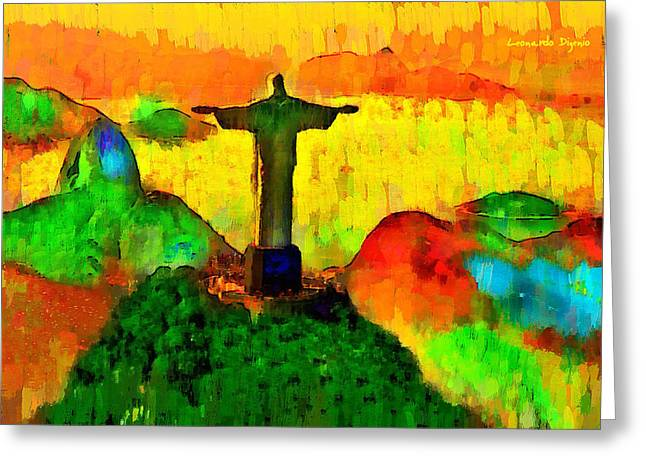 Christ The Redeemer In Rio 1 - Pa Greeting Card