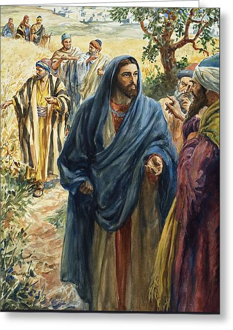 Christ With His Disciples Greeting Card