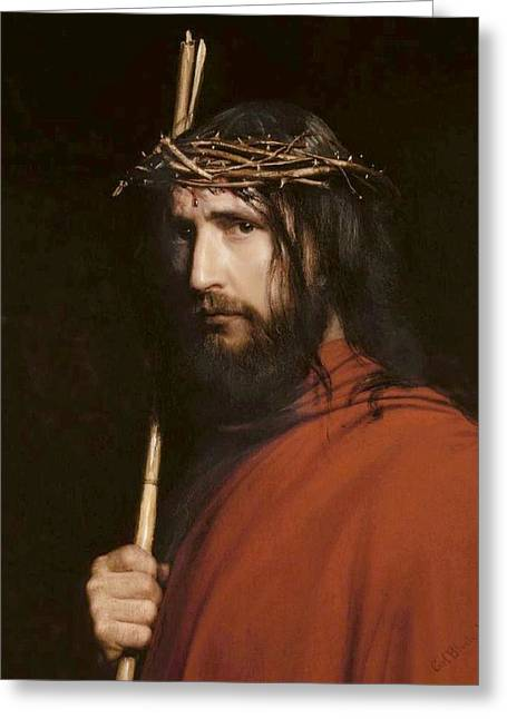 Christ With Thorns Greeting Card