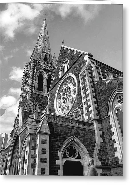 Christchurch Cathedral Greeting Card by Karen Lewis