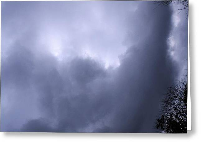 Christed Clouds Greeting Card by SeVen Sumet