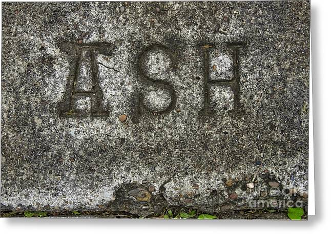 Christian Art - Ash Penance Greeting Card