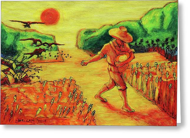 Christian Art Parable Of The Sower Artwork T Bertram Poole Greeting Card