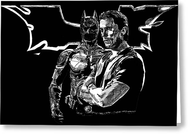 Christian Bale And The Dark Knight Rises Greeting Card