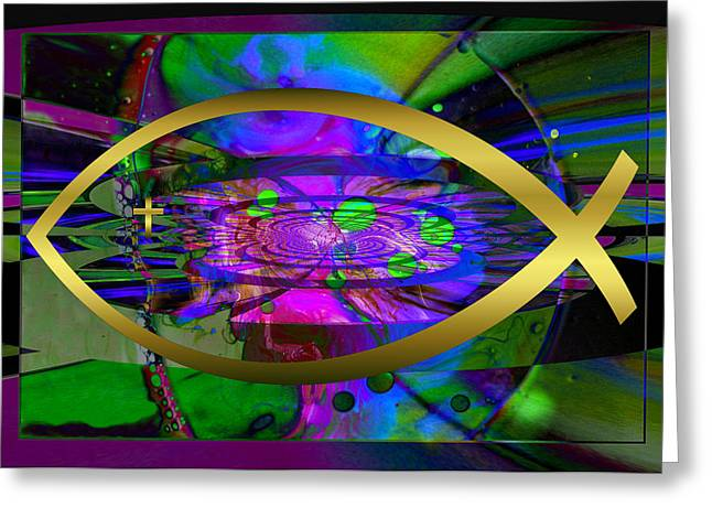 Christian Fish Ichthus Greeting Card by Robert Kernodle