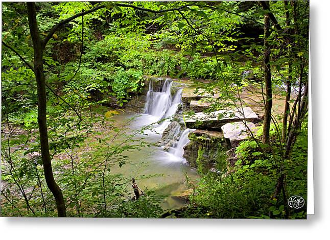 Christian Hollow Waterfall Greeting Card by Brad Hoyt