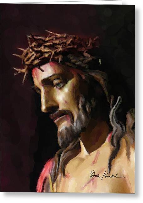 Christian Religious Art Of Jesus Paintings John 3-16 - His Only Begotten Son Greeting Card by Dale Kunkel Art
