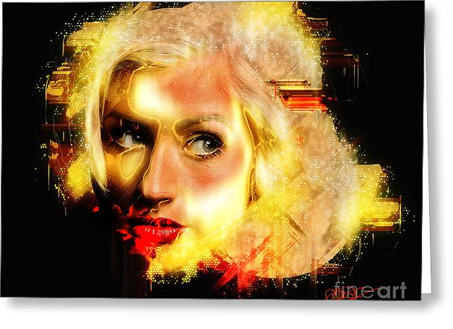 Christina Aguilera - All Thoughts Greeting Card