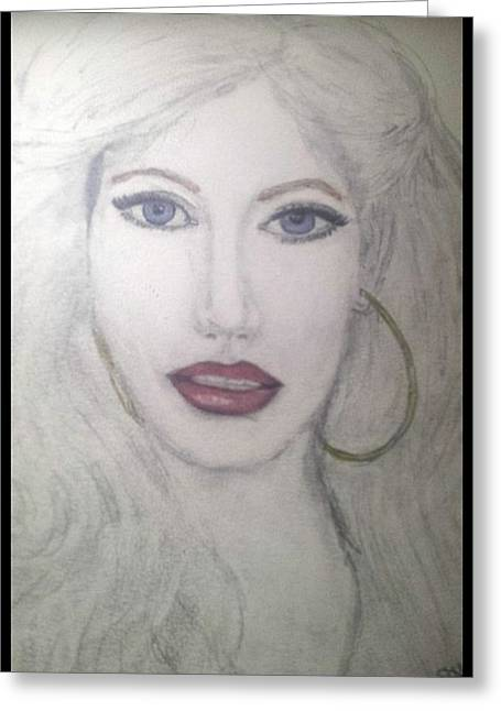 Christina Aguilera Greeting Card