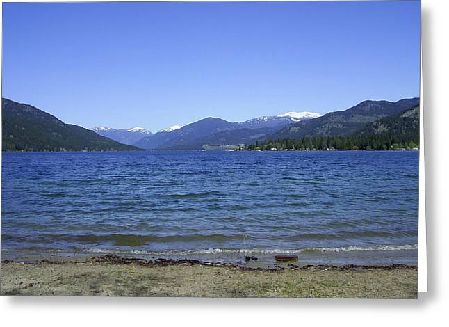 Christina Lake Public Beach Grand Forks Bc Greeting Card by Barbara St Jean