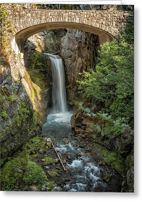 Greeting Card featuring the photograph Christine Falls by Belinda Greb